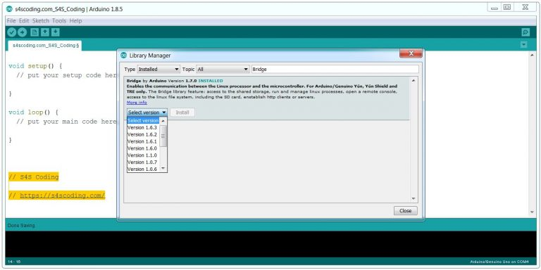 Arduino IDE Library Installed Successfully