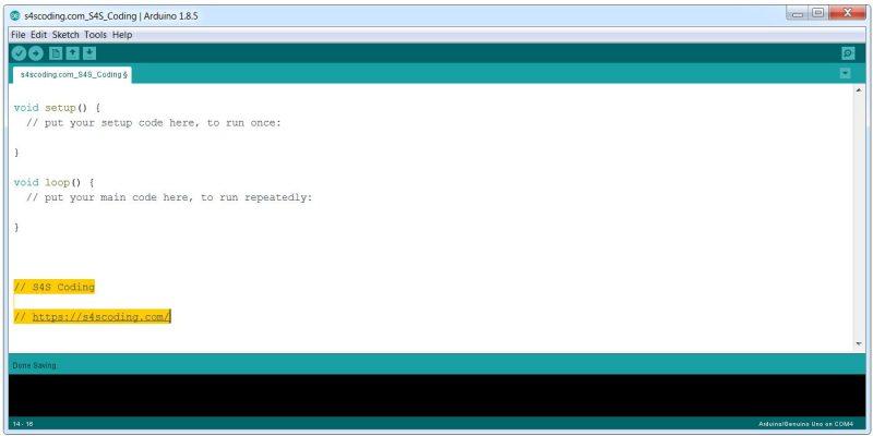 Arduino IDE Software Version 1.8.5