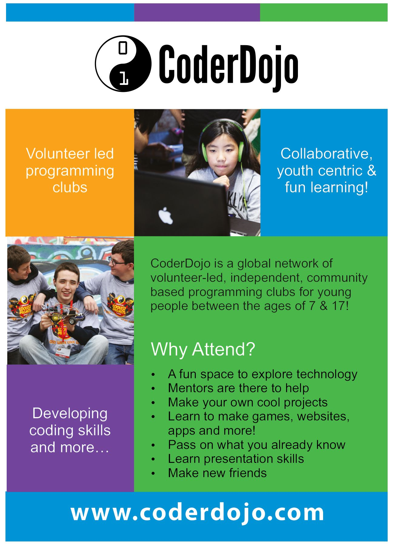 coderdojo coding club flyer