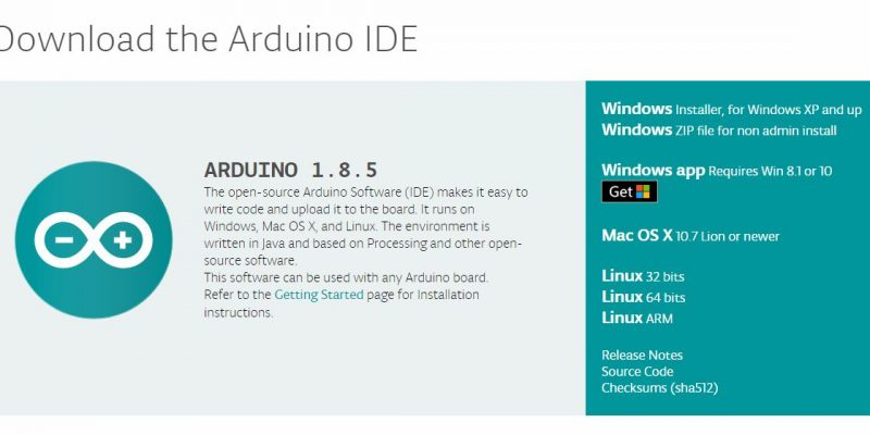 Download the Arduino IDE