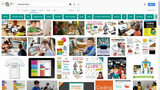 Google Coding for Boys