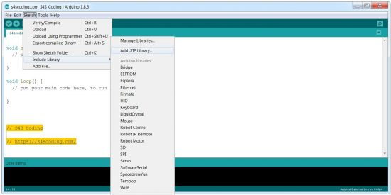How to Install an Arduino Library from a Zip File