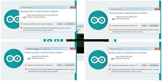 Installing Arduino Device Drivers