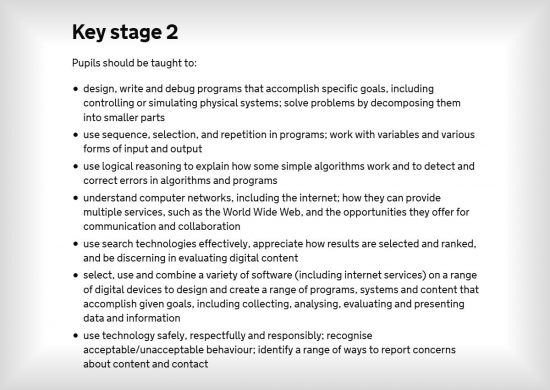 Junior School Coding Curriculum Key Stage 2