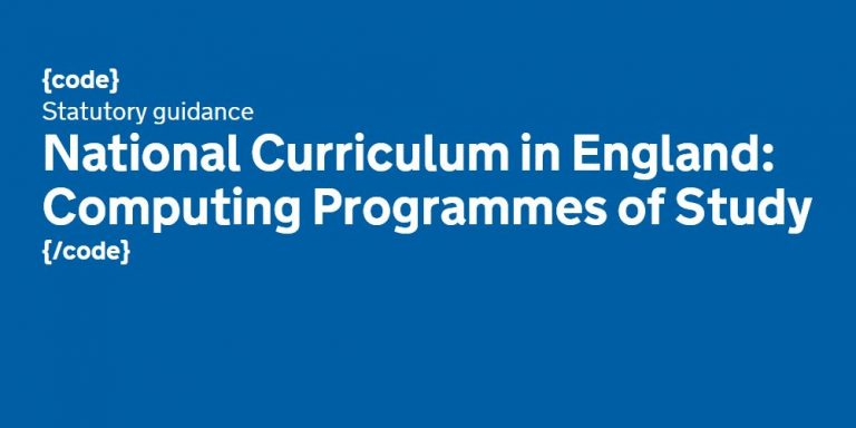 National Curriculum In England Computing Programmes of Study September 2013