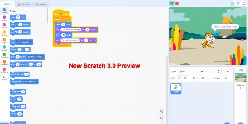 New Scratch 3 Visual Programming Tool Design
