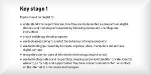 Primary School Coding Curriculum Key Stage 1