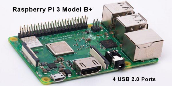 Raspberry Pi 3 Model B+ 4 USB 2.0 Ports