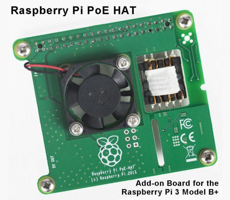 Raspberry Pi PoE HAT Add-On Board