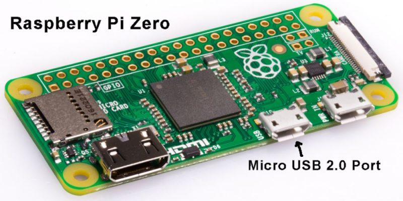 Raspberry Pi Zero Micro USB 2.0 Port
