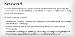Secondary School Coding Curriculum Key Stage 4