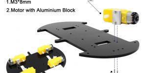 Smart Robot Car Kit DC Motors Installation