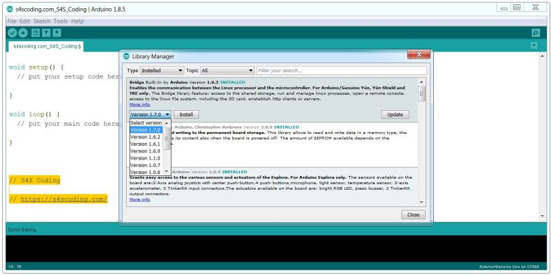 Update Arduino Libraries Using the IDE Library Manager